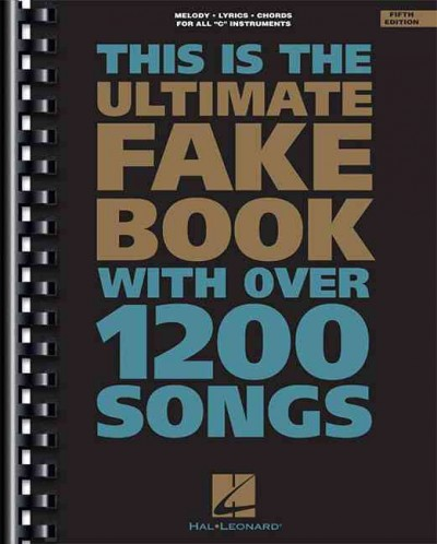 This Is The Ultimate Fake Book Melody Lyrics Chords For All C
