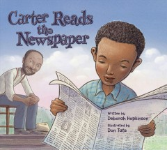 Carter reads the newspaper by Hopkinson, Deborah